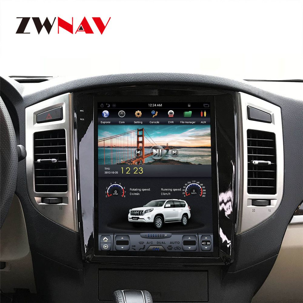 ZWNVA Tesla IPS 12,1 Zoll Bildschirm Android 7.1 Auto Keine DVD-Player GPS Navigation Für MITSUBISHI PAJERO V97 V93 2006- 2017 steuergerät