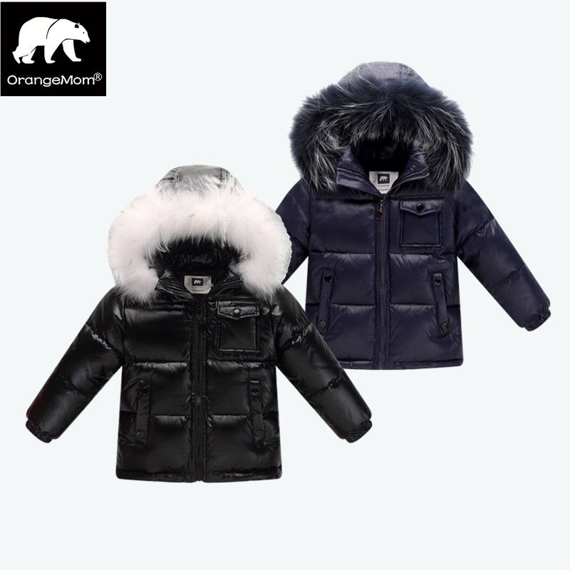 2018 winter down jacket parka for girls boys coats , 90% down jackets children's clothing for <font><b>snow</b></font> wear kids outerwear & coats