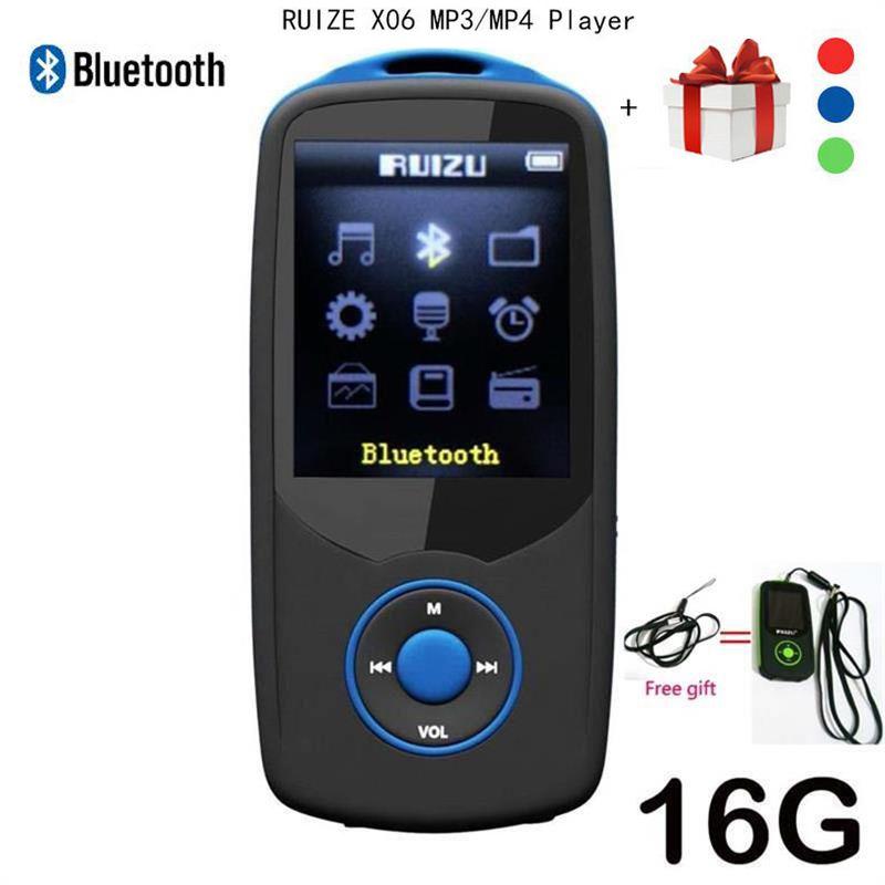 Lecteur MP4 d'origine RUIZU X06 Bluetooth 16GB lecteur de musique sans perte de haute qualité avec lecteur vidéo Radio FM