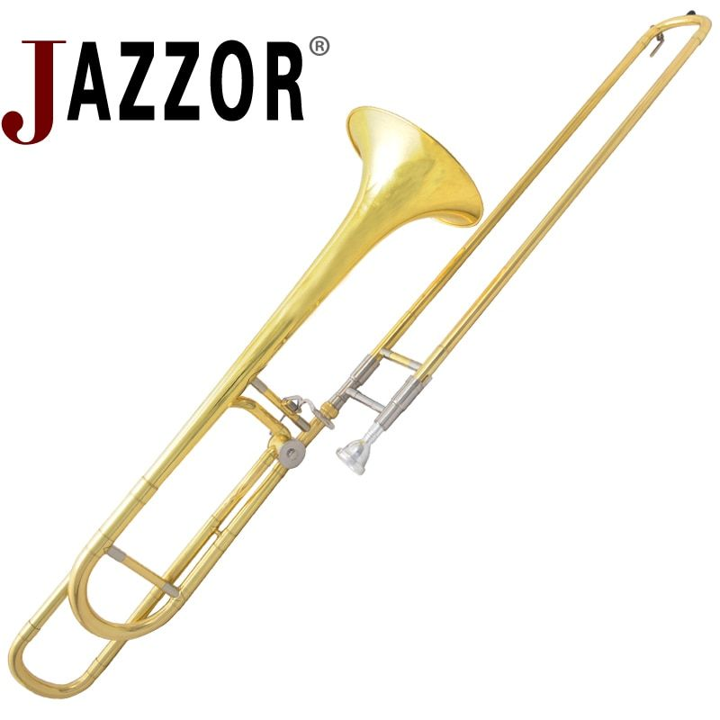 JAZZOR JBSL-800 tenor trombone with the mouthpiece with case,gloves,gold brass wind instruments