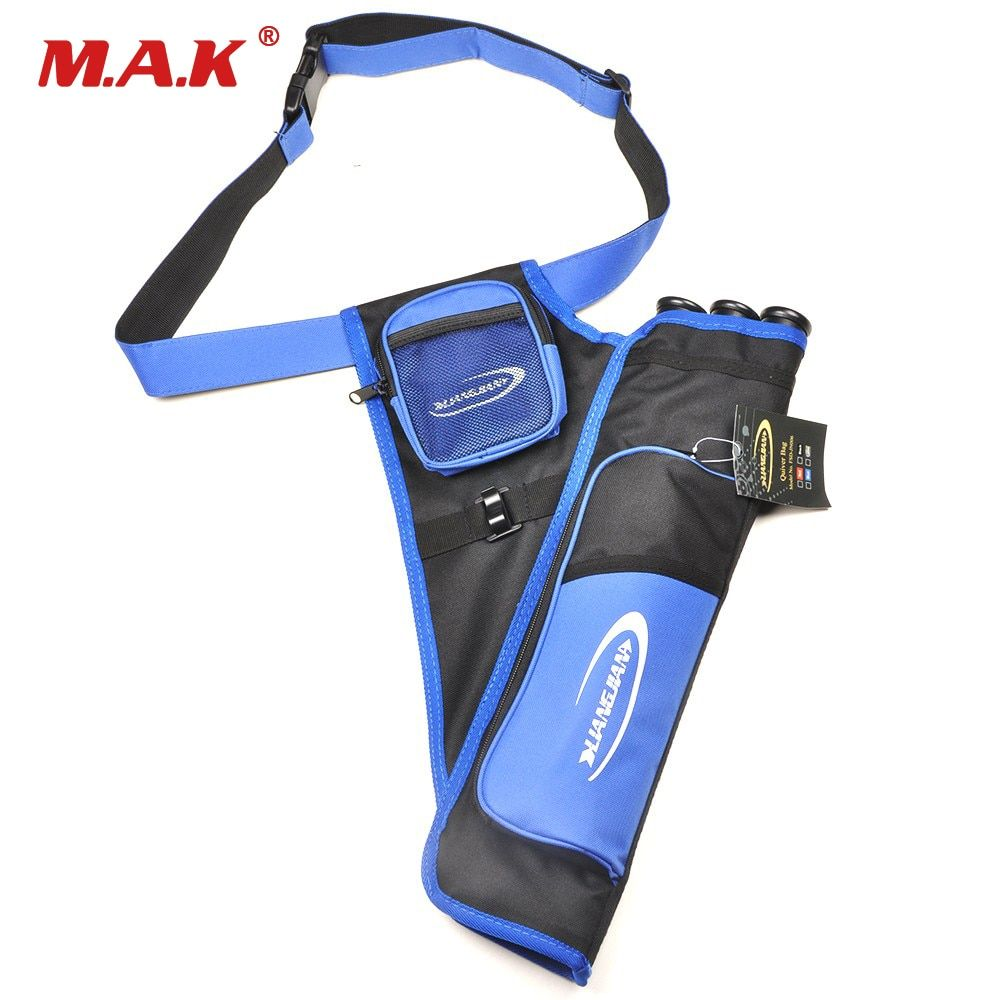 1PC New Three Tube Blue Color Arrow Quiver Bag Quiver Arrow Bag For Hunter Outdoor Hunting And Shooting Free Shipping