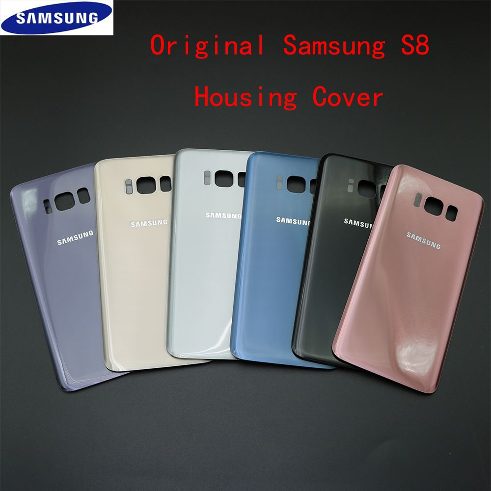 New Rear Panel Glass Battery Back Cover For Samsung Galaxy S8 G950F Housing Cover Case With Replanement Part + Adhesive Sticker