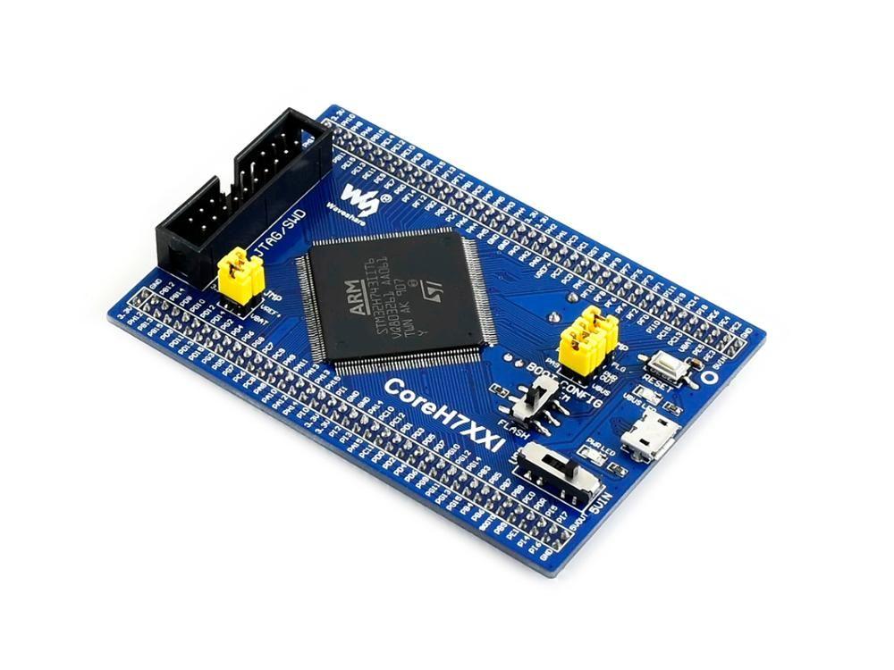 Waveshare STM32 STM32H743IIT6 MCU core board, full IO-expander, JTAG/SWD debug interface