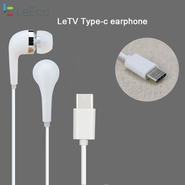 Le Eco tipe C Earphones For Original Letv TYPE-C Earphone Mic Volume Control Stereo Headset for LeEco Le S3 2S Max 2 Pro Pro3