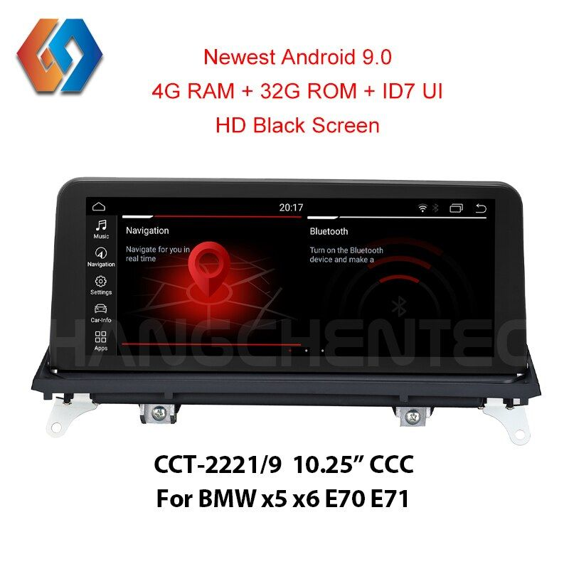 4G ram x5 e70 Android 9.0 Auto Stereo Für BMW X5 E70 X6 E71 CCC HD Video 1920x720 schwarz Bildschirm Auto Touch Multimedia Radio GPS Nav