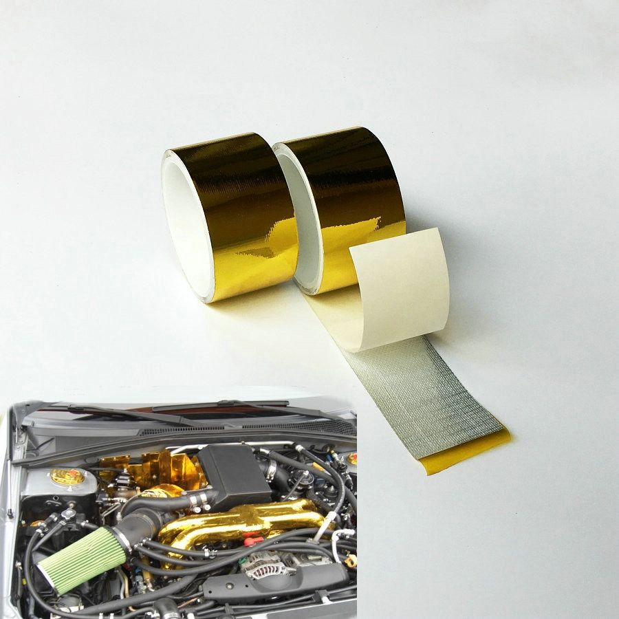 2''x15' Gold Tape High Performance Reflective Heat Protection  Reflect A Tape Engine Cool Tape Heat Shield
