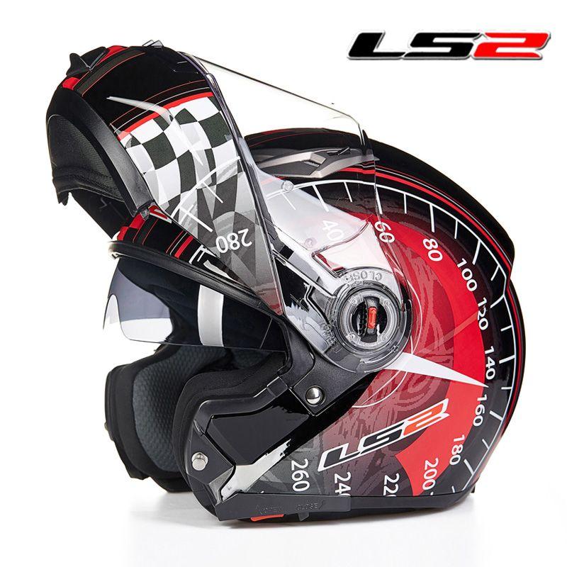 LS2 ff370 man Flip up Motorcycle helmets dual shield motorbike Racing Helmets cruise automotive accessories LS2 moto helmets ECE