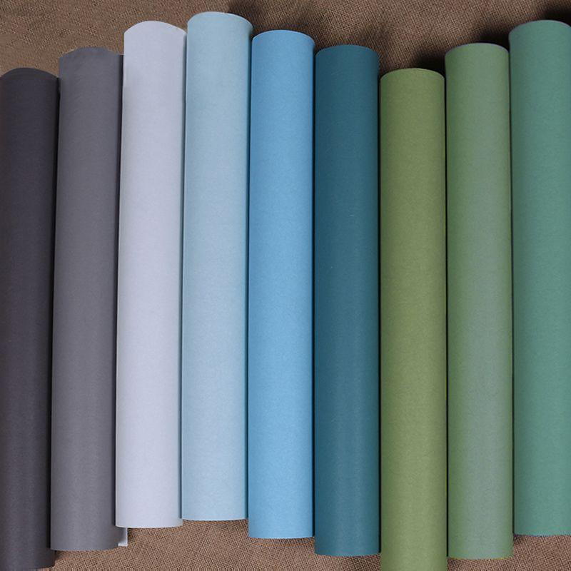 Moderne Nordic Stil Tapeten Wohnkultur Einfarbigen Seide Textured Wallpaper für Wände Stoff Schlafzimmer Tapeten Grün Blau