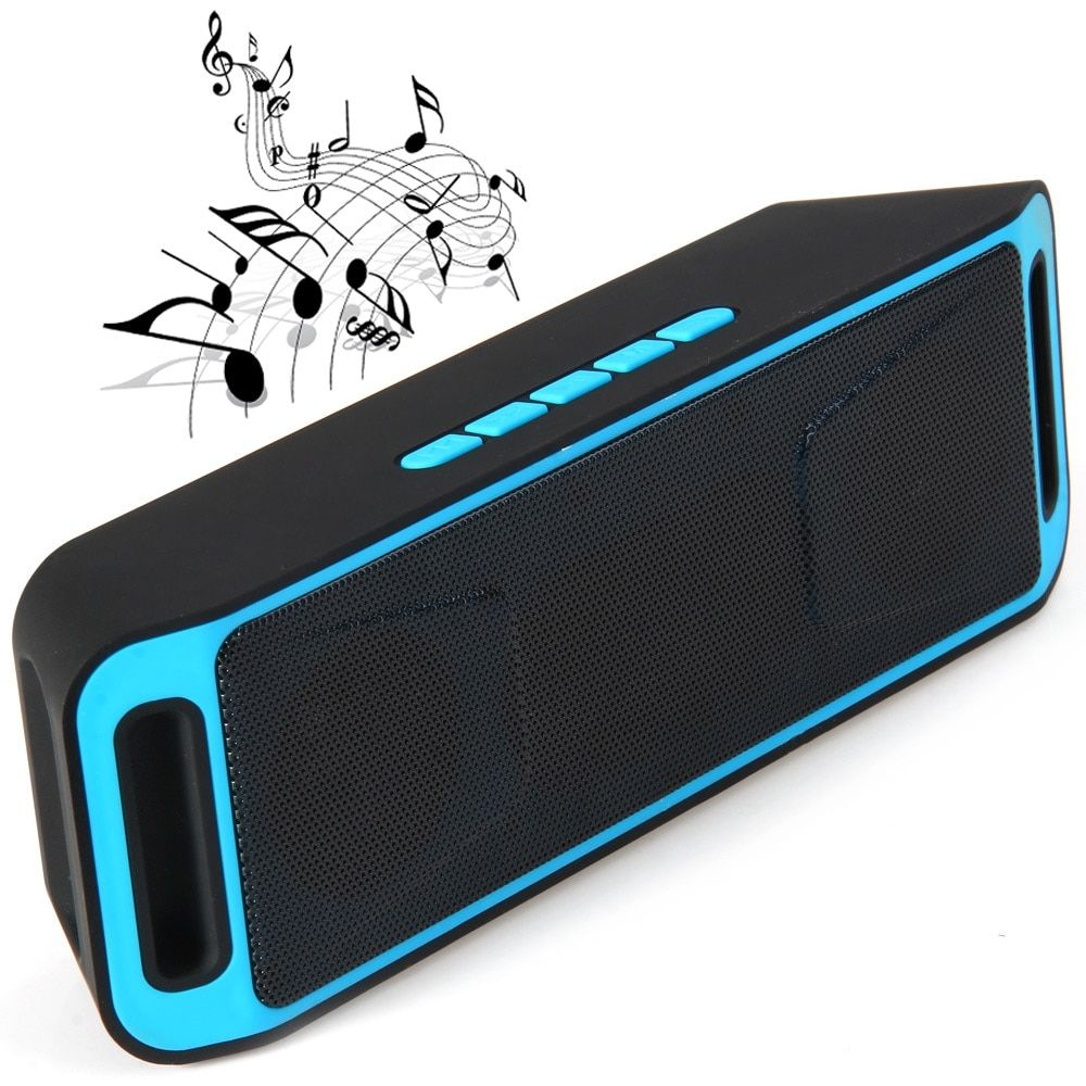 Wireless Portable Bluetooth Stereo Speaker Support Handsfree FM Radio TF Card USB AUX Playing for Mobile Phones
