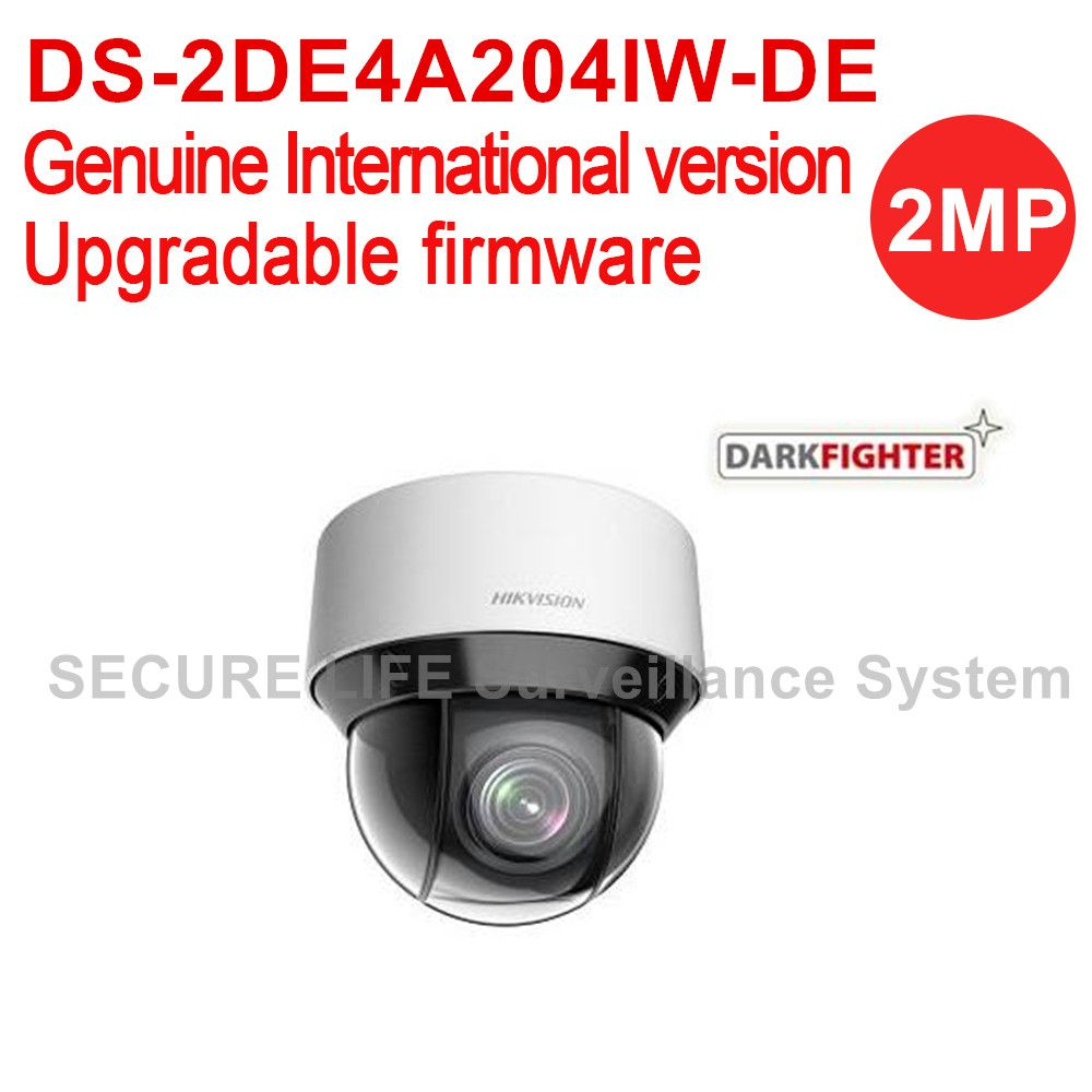 English version DS-2DE4A204IW-DE 2MP network IR mini PTZ camera outdoor dark fighter 2.8-12mm, 4x optical zoom, 50m IR, H.265