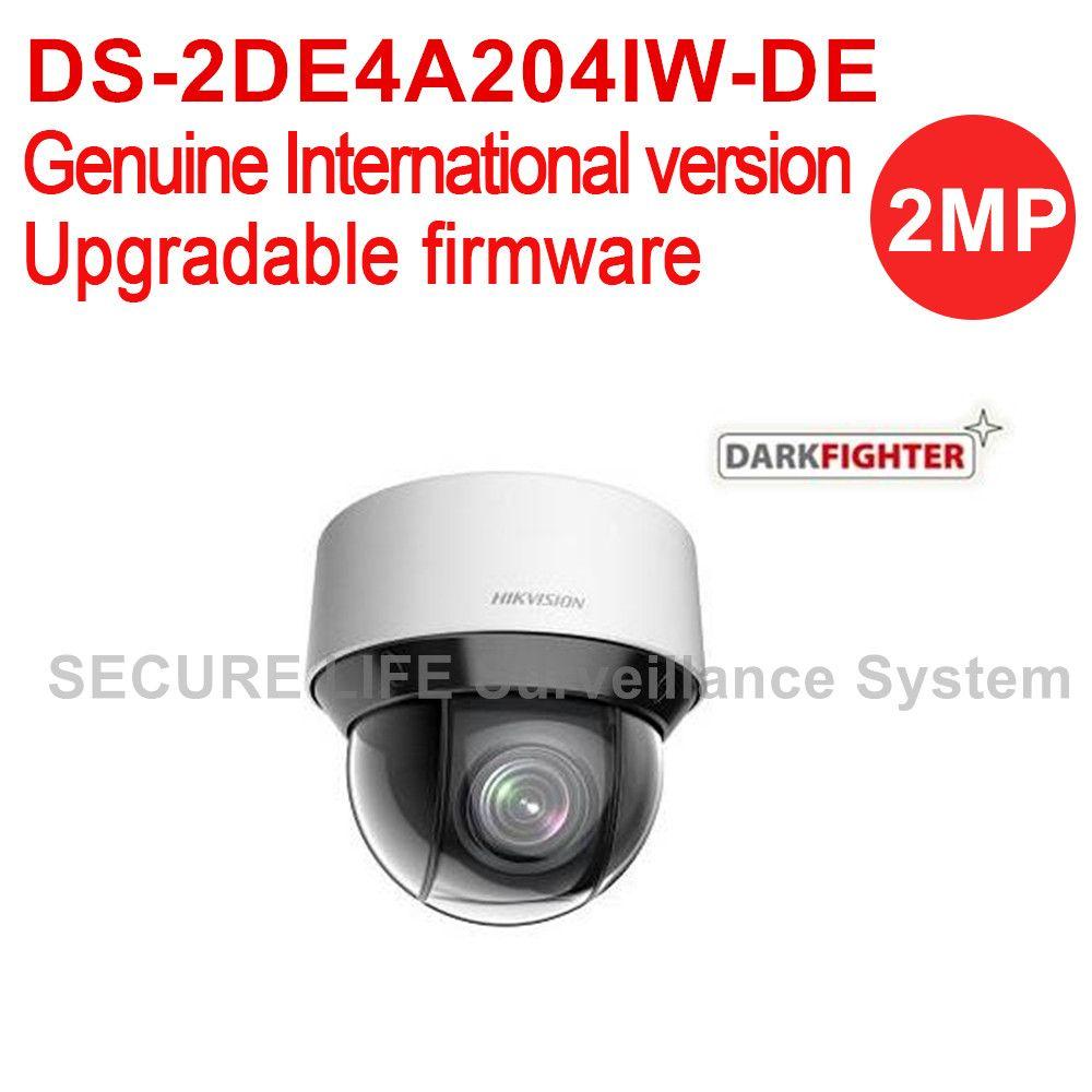 English version DS-2DE4A204IW-DE 2MP network IR mini PTZ camera outdoor dark fighter 2.8-12mm, 4x optical zoom, 50m IR, H.265