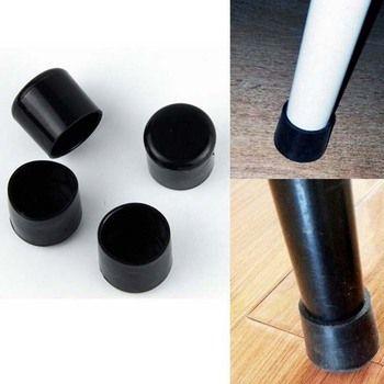 Мм 4 шт. 22 мм мебельные ножки резиновые черные Кремнеземные пластиковые резиновые защита для пола мебель стул для столовой ножные носки шапк...