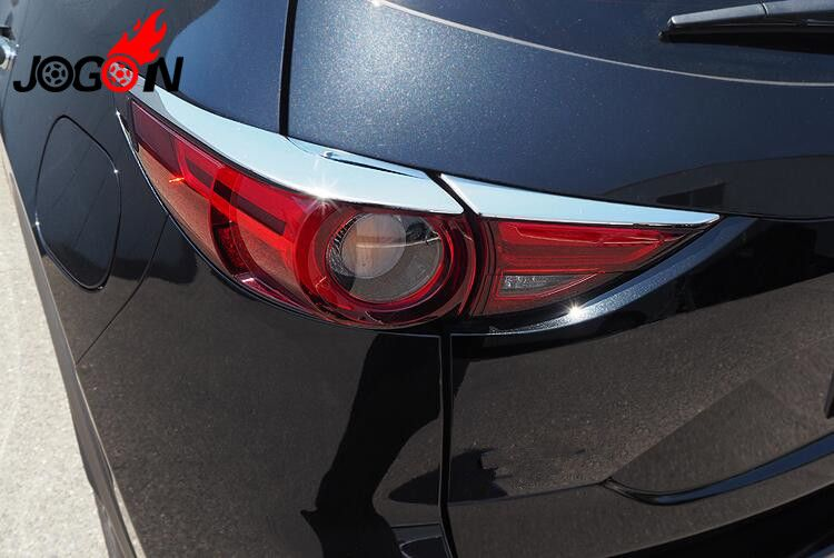 2pcs Accessories High Quality ABS Chrome Rear Tail Light Strip Trim FOR Mazda CX5 CX-5 2017 2018