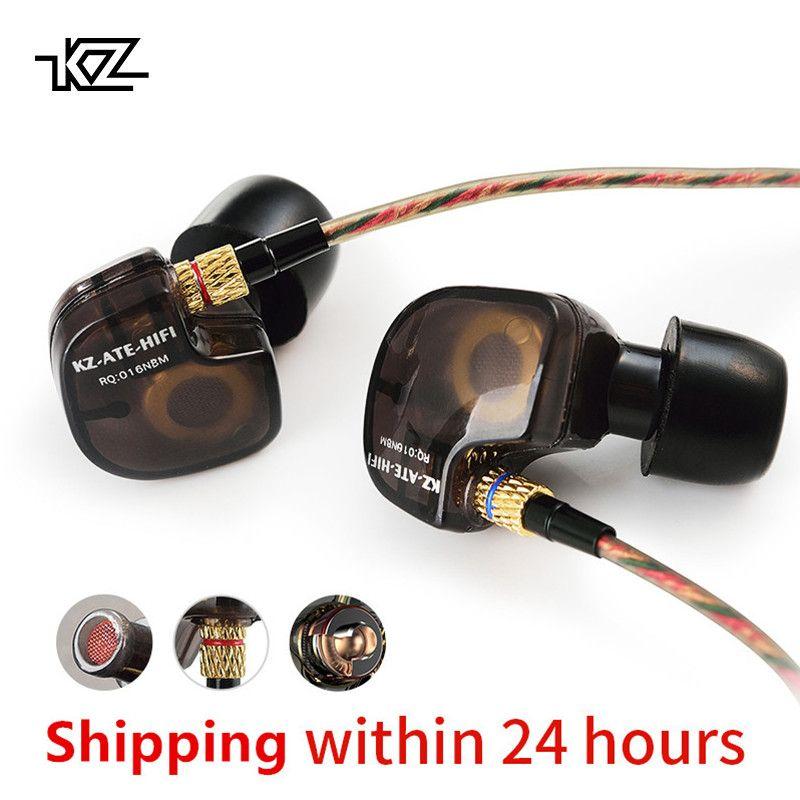 KZ ATES ATE ATR HD9 cuivre pilote HiFi Sport casque dans l'oreille écouteur pour courir avec Microphone casque musique écouteurs