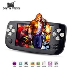 Data Frog 2017 New 4.3 Inch HD Game Console 32 Bit Portable Handheld Game Players For GBC/SFC/CP1/NEO/GEO Format 500+ Inner game