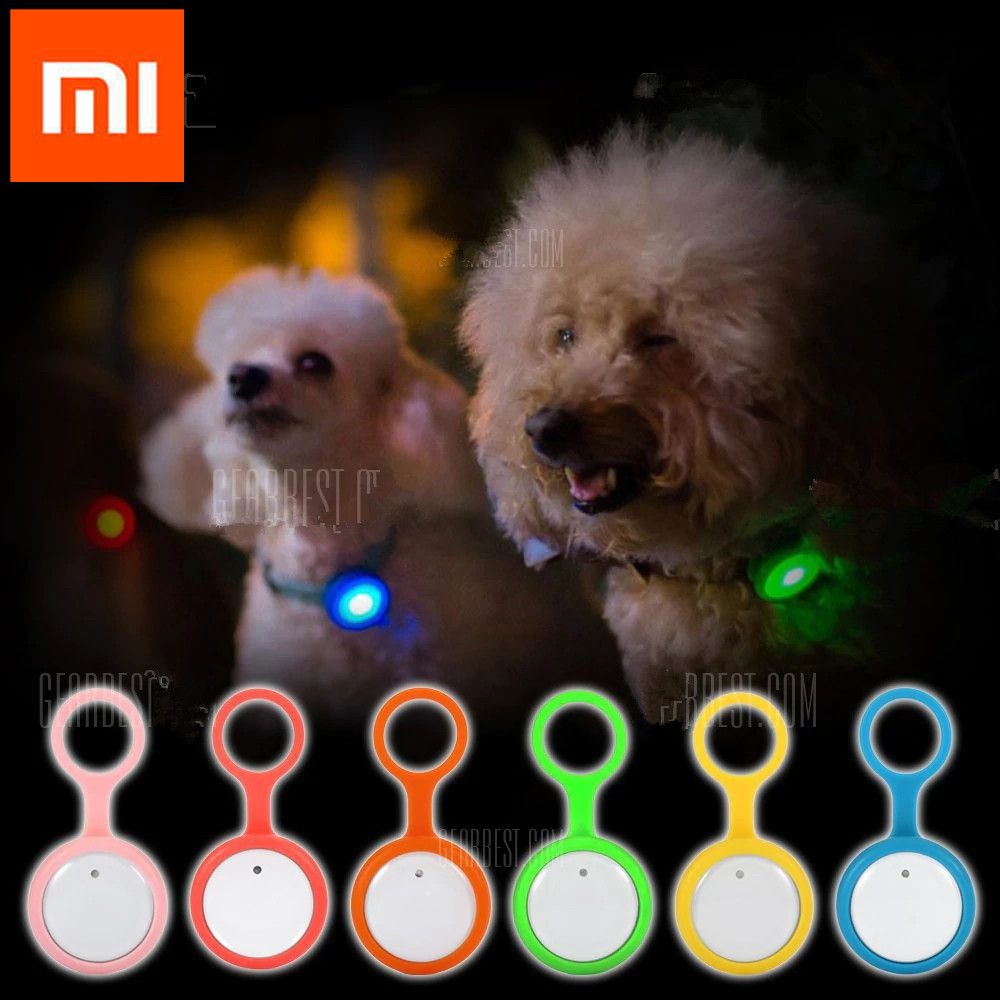 2018 new Xiaomi mijia Roidmi Smart Dog Button Tag Flashing Anti-lost Safety Light Pets Ornaments For xiaomi smart Mi home kit