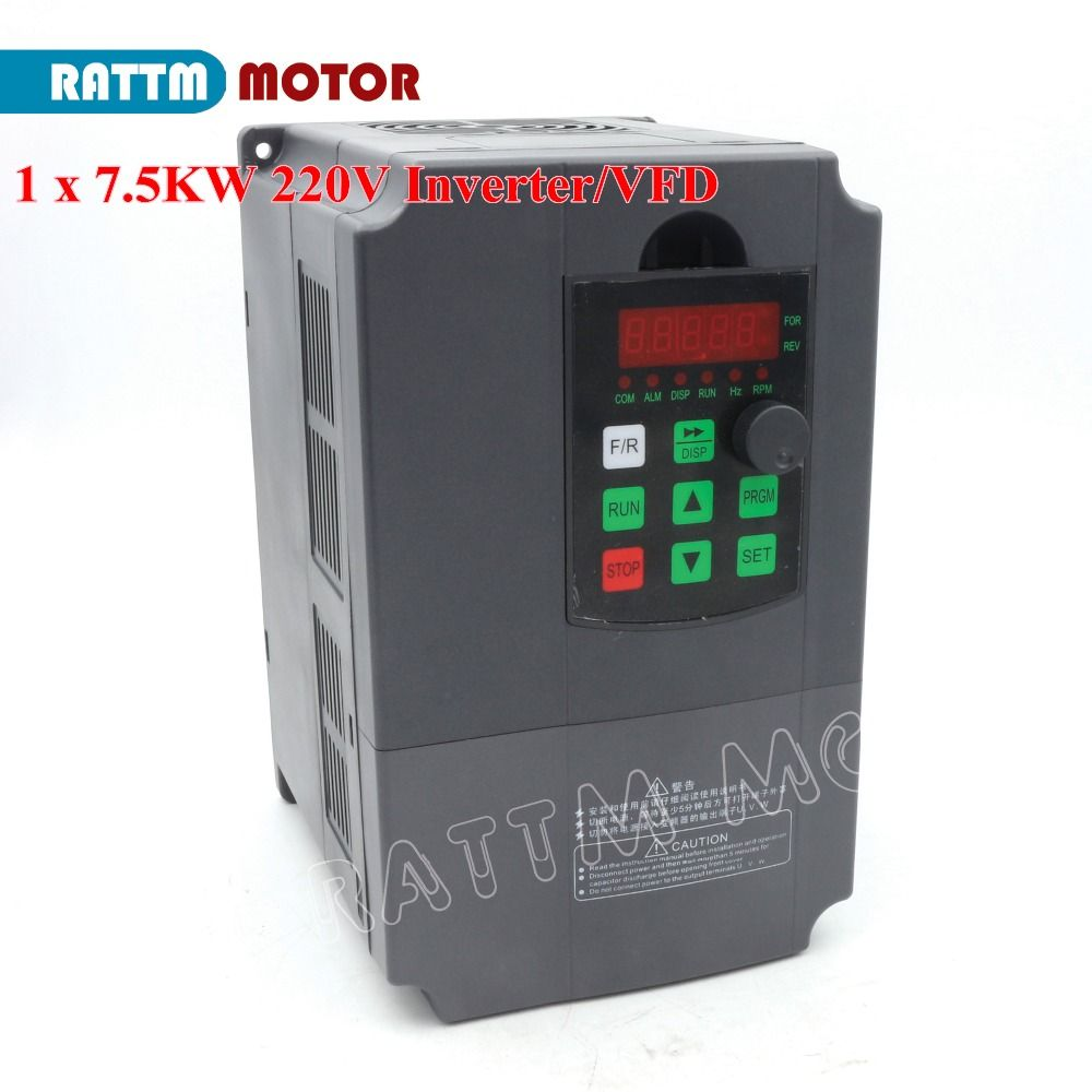 EU Delivery! 7.5KW 220V Variable Frequency VFD Inverter Output 3 phase 400Hz Spindle Motor Speed Controller Frequency Conveter