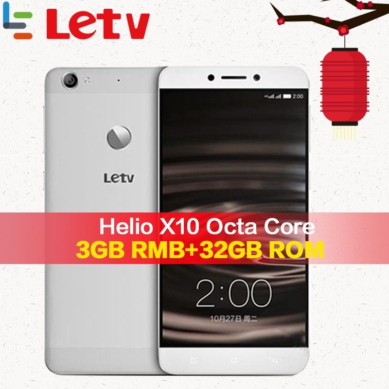 Original Letv Le 1S X500 4G mobile phone 3G RAM 32G ROM Android 5.0 Octa Core 5.5'' 13MP FingerPrint ID Android Smartphone