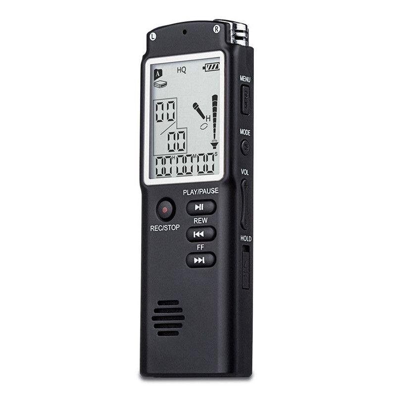Popuflo T60 Hochwertige Digital Audio Voice Recorder ein tastensperre bildschirm Telefon Aufnahme Echtzeit-anzeige mit Mp3-player
