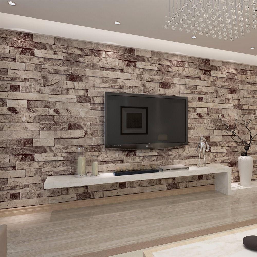 Vintage Brique Papier Peint pour les murs 3 d en rouleaux salon bureau Murale 3D fonds d'écran sur le mur papel de parede QZ0455
