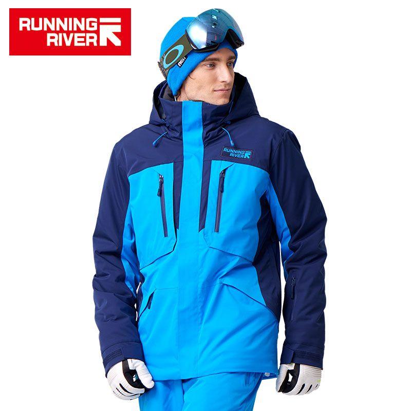 FLUSS Marke Männer Ski Jacke 5 Farben 6 Größen Winter warme Outdoor Sport Jacken Hochwertige Sport Tuch Für Mann # A7035
