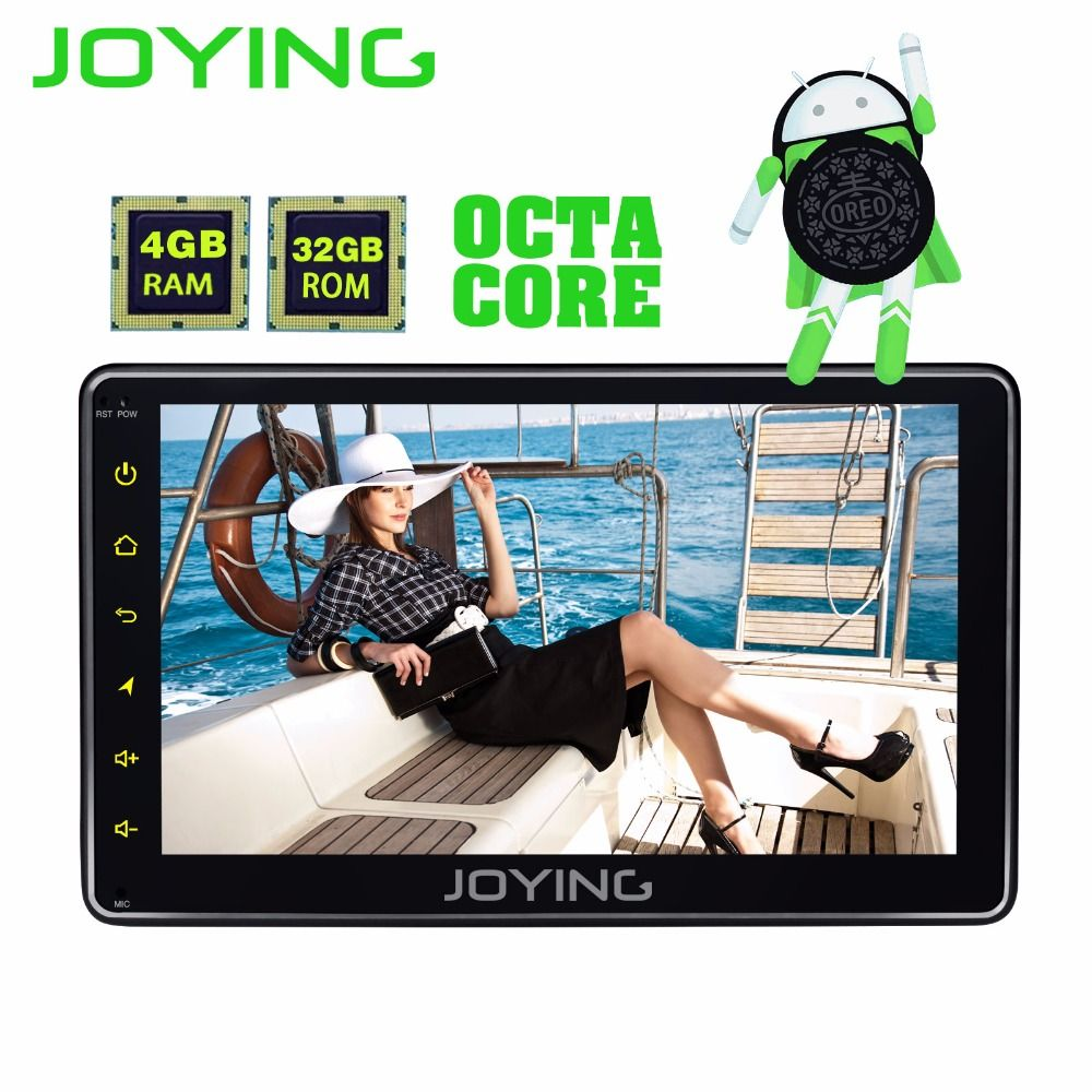 JOYING 4GB RAM 32GB ROM 1 din 7 inch Android 8.0 car radio stereo GPS audio Octa core HD head unit with carplay steering wheel