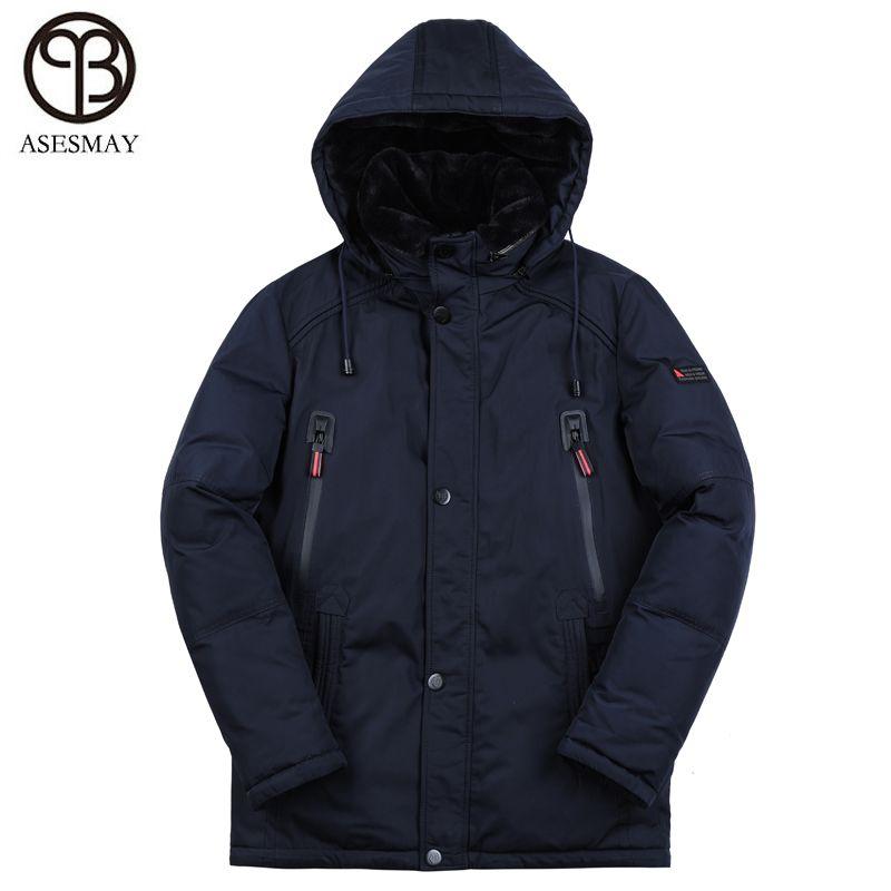 Asesmay neue ankunft winter jacke männer gepolsterte mantel herren parka dicke warme hohe qualität europäischen größe hoodies männer der winter jacken