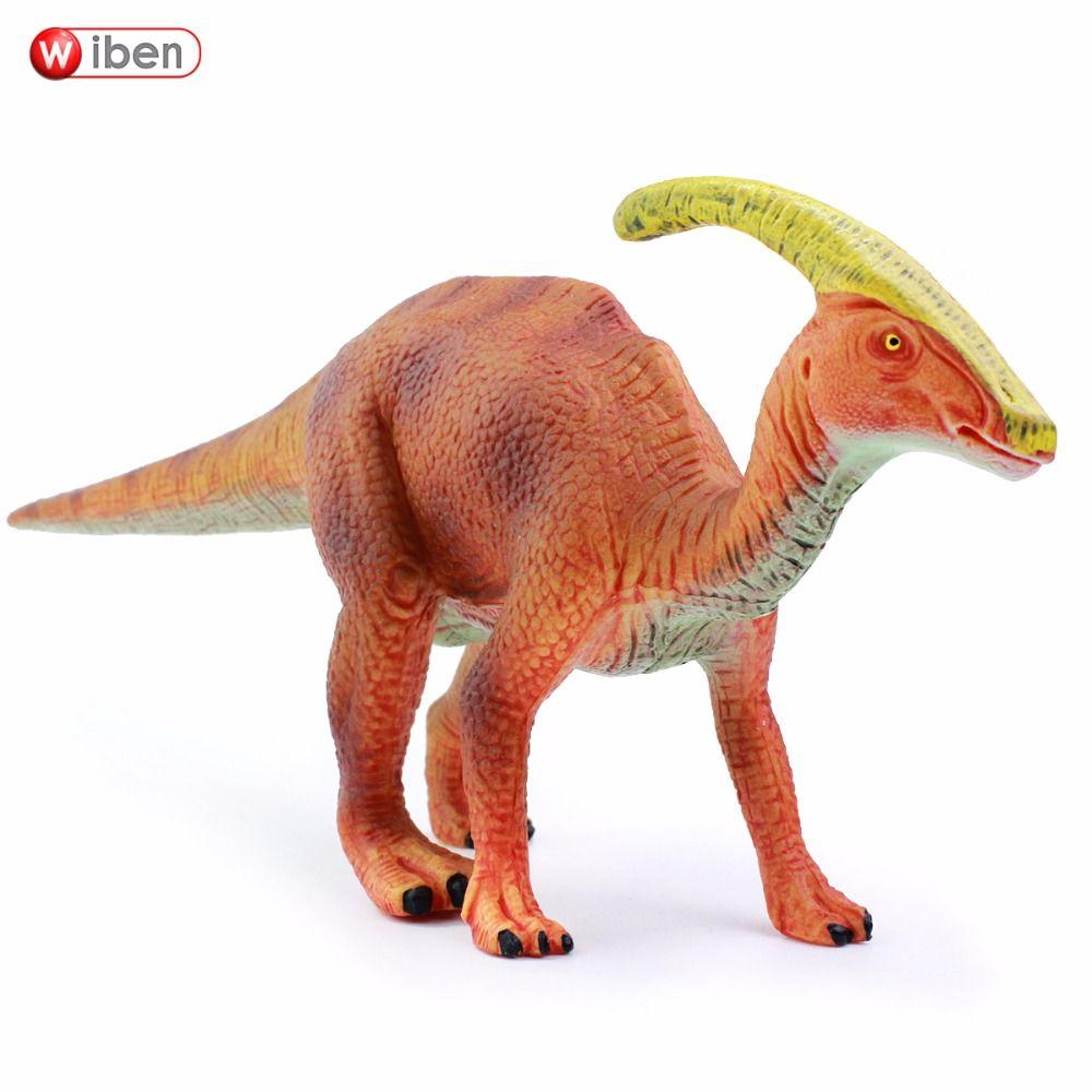 Wiben Jurassic Parasaurolophus Dinosaur Jouets Action Figure Modèle Animal Collection Cadeaux Pour Enfants de Haute Qualité Brinquedos