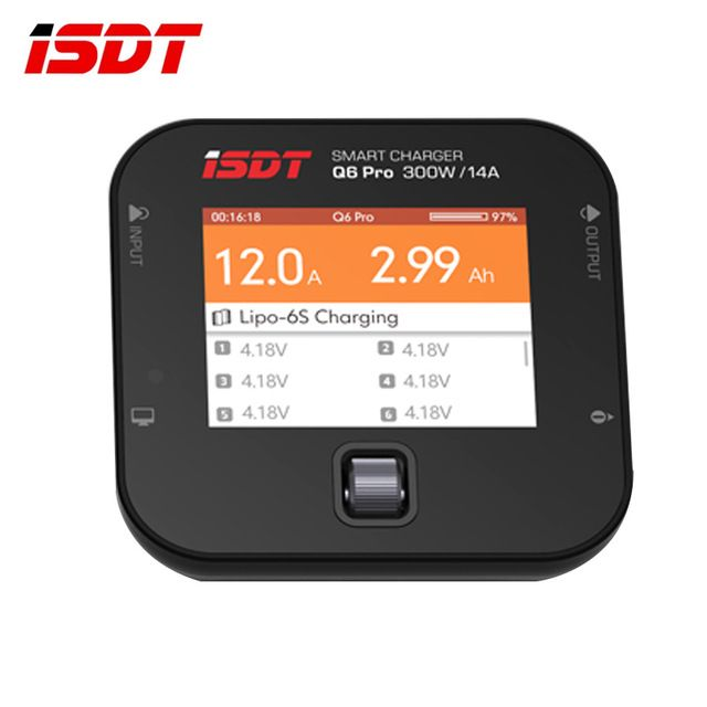 In Stock ISDT Q6 Pro BattGo 300W 14A Pocket Lipo Battery Balance Charger Smart Digital Charger For RC Models DIY Spare Part