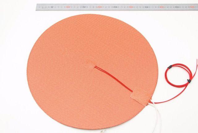 SWMAKER Dia 500mm runde Silikon Gummi Heizung Matte 110 V/220 V 800 W beheizten bett 50 cm für Reprap Delta Kossel 3D drucker