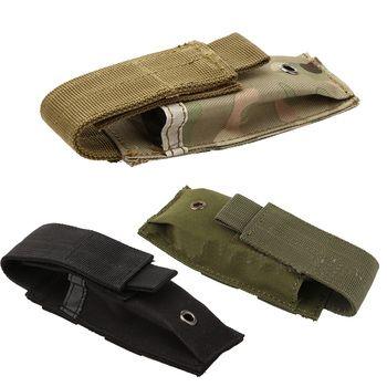 Военный моллюск Тактический одиночный Пистолетная обойма чехол ножевой фонарик оболочка страйкбол охотничьи боеприпасы Camo сумки
