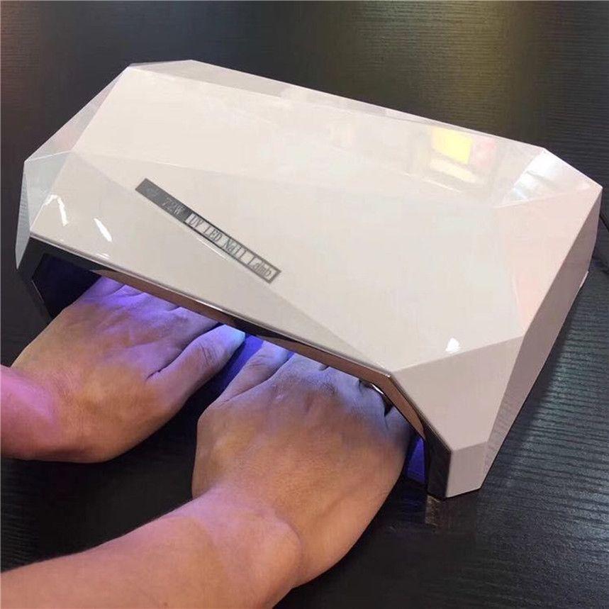 Diamant Geformt 72 watt Zwei Hand Nagel Trockner Doppel licht LED Nagel Lampe UV Lampe Aushärtung Alle Gel Polnischen Werkzeug mit Auto Sensor EU/Us-stecker