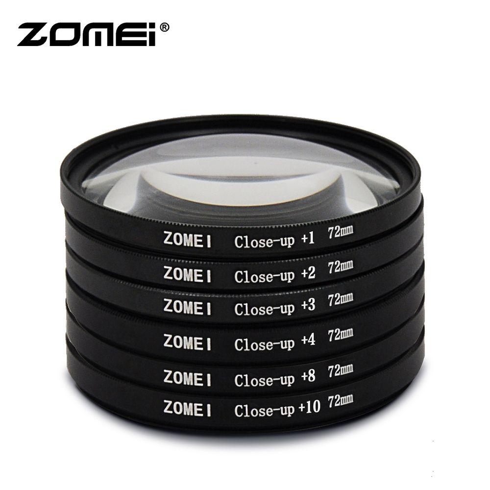 Zomei filtre objectif de gros plan Macro d'origine + 1 + 2 + 3 + 4 + 8 + 10 filtre 49/52/55/58/62/67/72/77/82mm pour Canon appareil Photo REFLEX NUMÉRIQUE Nikon