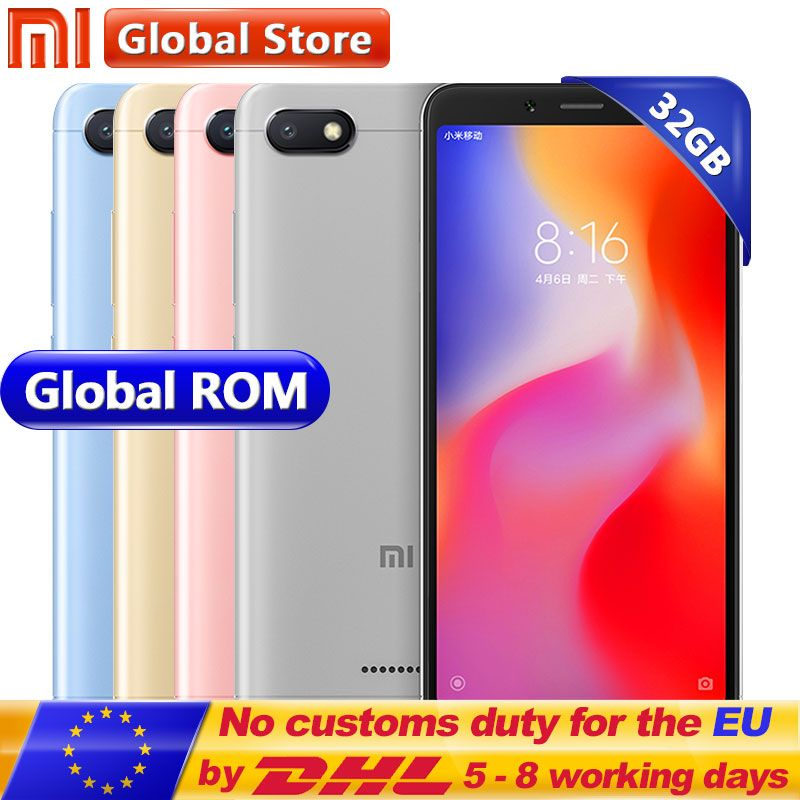 Original Xiaomi Redmi 6A 6 A 3GB 32GB ROM RAM A22 Mobile Phone 5.45 inch 13.0 MP + 5.0MP 3000mAh 1440*720