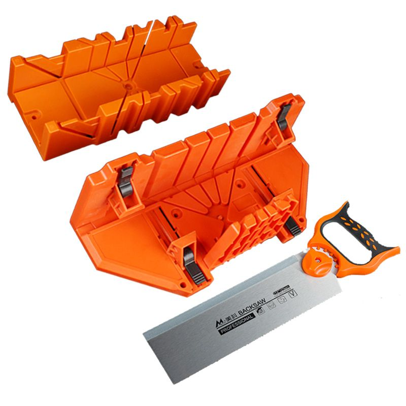 0/45/90 Degree Wood Cutting Saw Clamping Mitre Box with 12