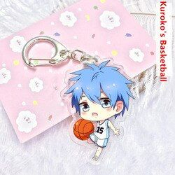 7 gaya kartun Kuroko Tetsuya Kuroko No Basket Akrilik keychain Liontin Keyring Cosplay Kagami Taiga Hyuga Junpei Llavero