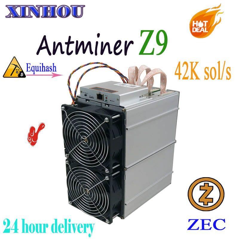 Verwendet asic miner Antminer Z9 42 k sol/s Equihash Für ZEN ZEC Bergbau Besser als Bitmain Antminer Z11 z9mini B7 S17 Innosilicon A9