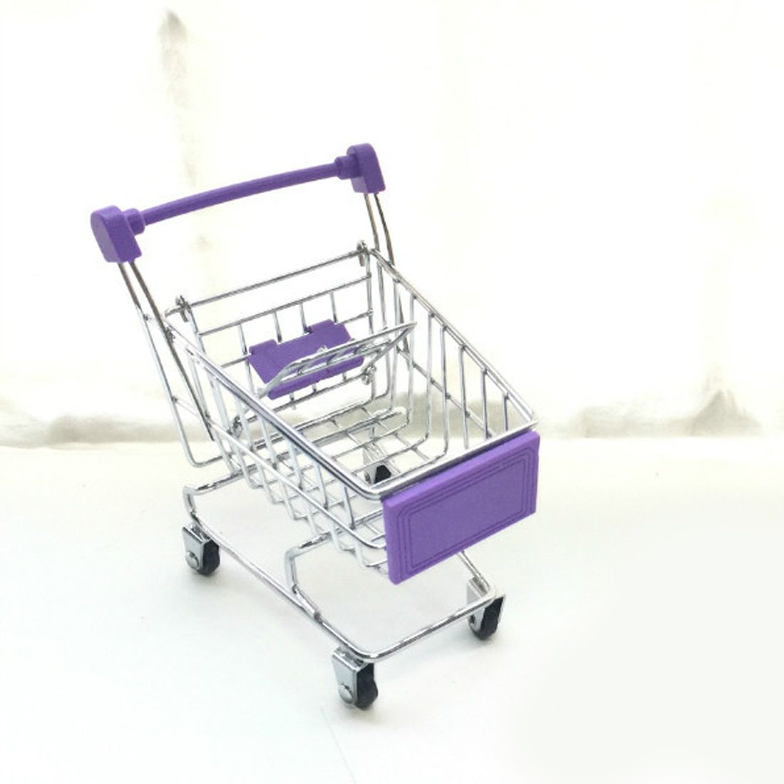 New Mini Supermarket Handcart Trolley Shopping Utility Cart Phone Holder Office Desk Storage Toy Cart Baby Toy