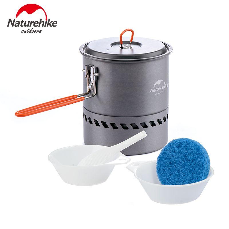 Naturehike 1.5L Échangeur de Chaleur Pot Portable de Cuisine En Plein Air Camping Pot NH15T216-G