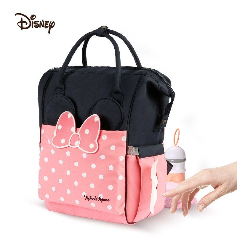 Disney Thermal Insulation Bag High-capacity Baby Feeding Bottle Bags Backpack Baby Care Diaper handBags Oxford Insulation Bags