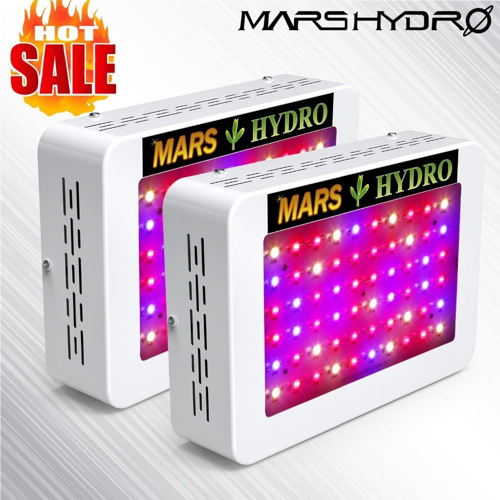 2pcs MarsHydro 300W/600W full spectrum LED Grow Lights Hydroponics Panel for Indoor Garden