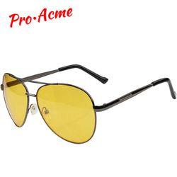 Pro acme Пилот очки ночного видения вождения желтые линзы классические антибликовое видение водителя защитные очки для мужчин CC0101