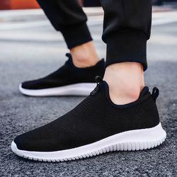 Polali Musim Semi/Musim Gugur Model Baru Pria Sepatu 2018 Fashion Nyaman Pemuda Kasual Sepatu untuk Pria Lembut Mesh Desain Malas sepatu