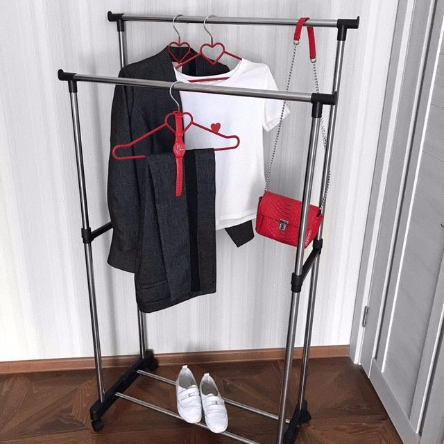 Hang On clothes dryer stainless steel standing hanger drying rack for kitchen metal wardrobe 2018 hot sale 300099