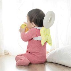 Niño reposacabezas almohada pad protección de la cabeza del bebé cuello lindo alas enfermería caída resistencia bebe cama mochila estera