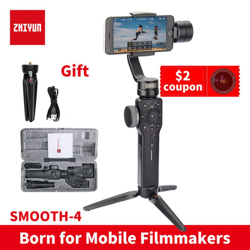 ZHIYUN smooth4 instock Smooth 4 3-Axis Handheld Gimbal Auto focus smartphone Stabilizer for iPhone Andrews Gopro Smooth Q