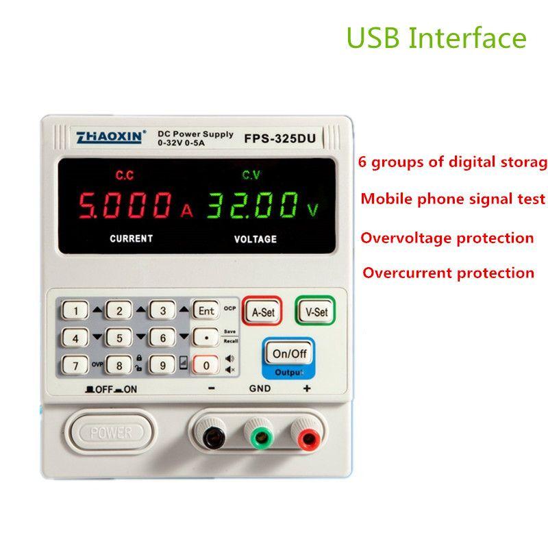 FPS-325DU DC alimentation réglable affichage à 4 chiffres 32V5A réparation de l'ordinateur portable Test de Signal de téléphone portable avec Interface USB