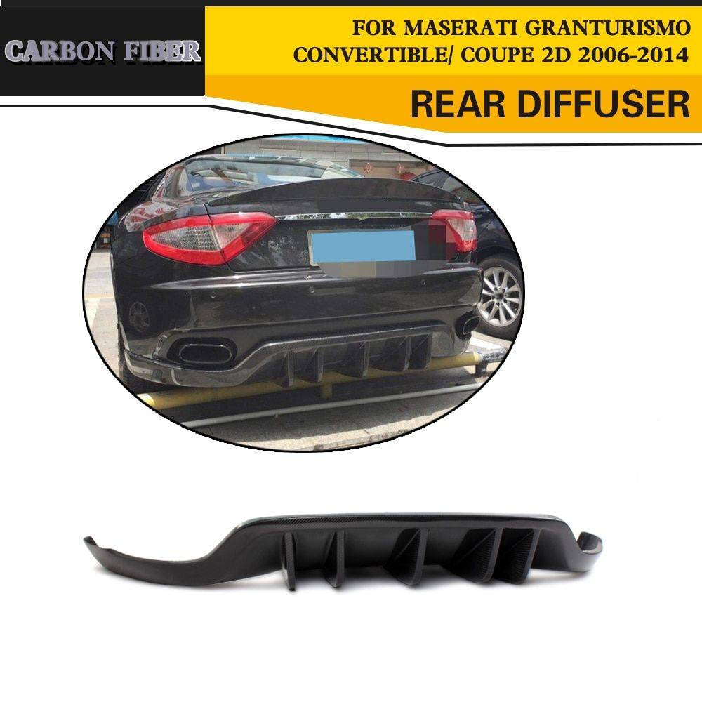 Car Styling Carbon Fiber Racing Rear Diffuser Lip for Maserati GranTurismo Convertible Coupe 2Door 2006-2014 Black FRP