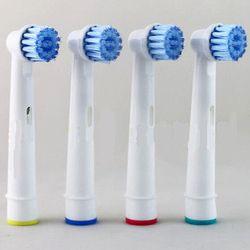 4 pcs/packs Électrique Têtes de Brosse À Dents Têtes de Brosse De Rechange pour L'hygiène Buccale B Sensible EBS-17A Pour un Usage Familial