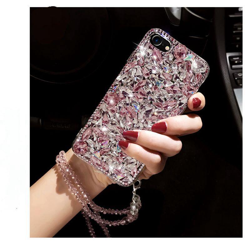 Pour iphone 5 6 7 8 X Samsung Galaxy s5 s6 s7 s8 bord plus note 4 5 8 De Luxe Mignon Strass diamant Glitter cas couverture cristal
